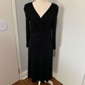 Jessica Howard Black Dress with Silver Accents